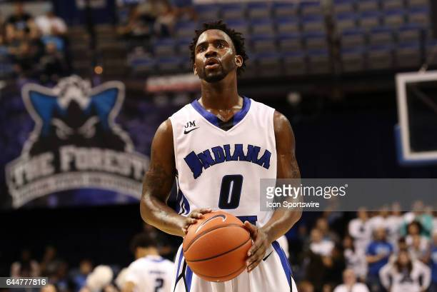 Indiana State Sycamores guard Everett Clemons shoots a free throw during the Missouri Valley Conference game against the Northern Iowa Panthers on...