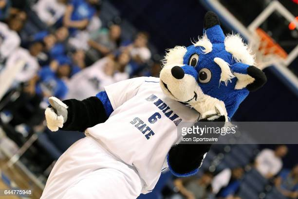 Indiana State Sycamores mascot Sycamore Sam entertains the crowd before the start of the Missouri Valley Conference game against the Northern Iowa...