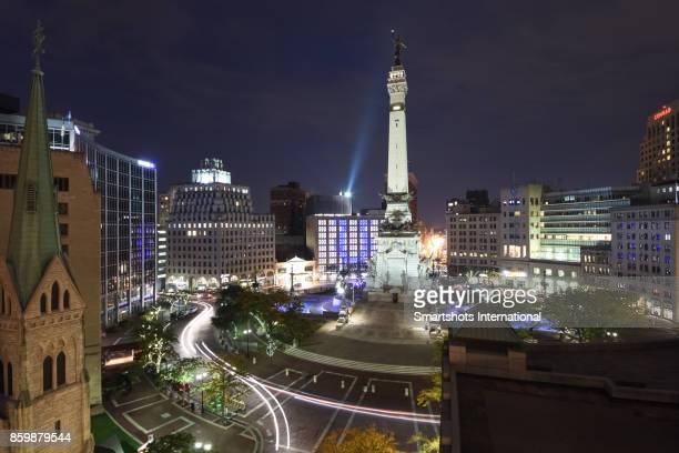 Indiana State's Soldiers and Sailors Monument on Monument Circle, Indiana, USA