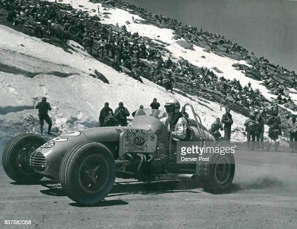 Indianapolis 500 winner Mario Andretti Pilots his STP Special through Devils Playground Andretti captured the championship car title at Pikes Peak...