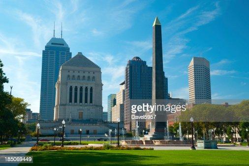 インディアナポリスの街並みや記念碑