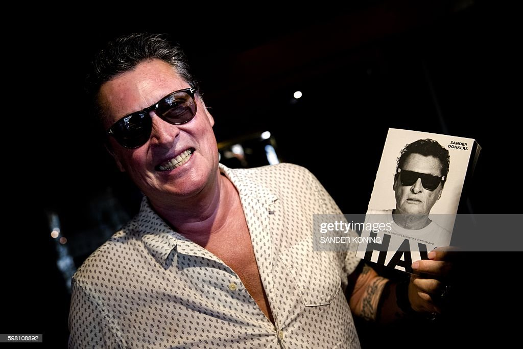 Indianborn Dutch Singer of the Golden Earring Barry Hay smiles as he presents his biography HAY written by Sander Donkers in Amsterdam on August 31...