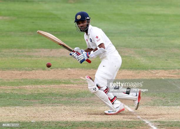 Indians' Ajinkya Rahane during day two of the International warm up match at The 3aaa County Ground Derby