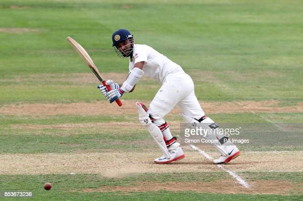 Indians' Ajinkya Rahane during day two of the International warm up match at The 3aaa County Ground Derby PRESS ASSOCIATION Photo Picture date...