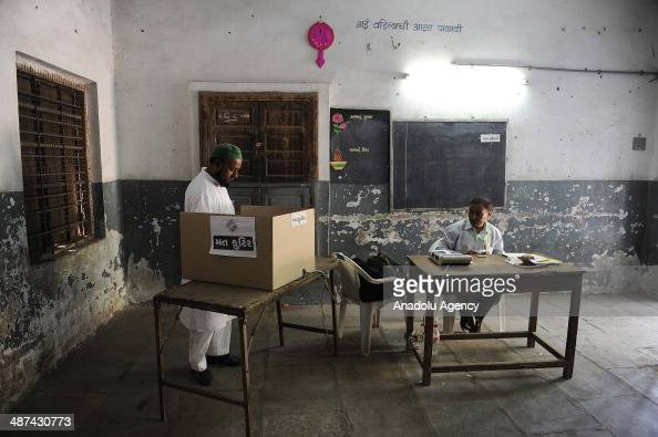 Indians cast their votes at the seventh phase of the Indian Election in the Indian state of Gujarat Ahmedabad India on April 30 2014