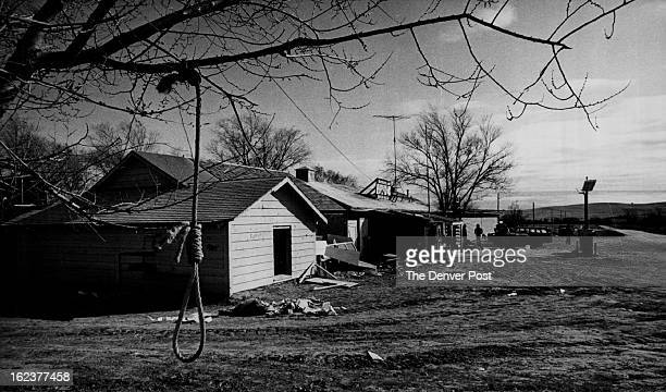 MAR 5 1973 Indians Demonstrations US A Noose Hangs from A Tree in Wounded Knee Seized Last Tuesday by About 200 Indians During the occupation there...