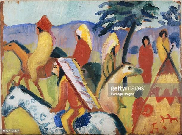 Indians on Horseback Found in the collection of Städtische Galerie im Lenbachhaus Munich