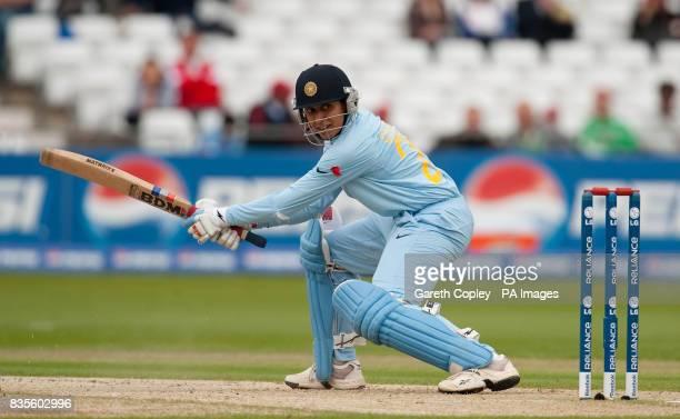 India's Anjum Chopra bats during the Women's ICC World Twenty20 Semi Final at Trent Bridge Nottingham