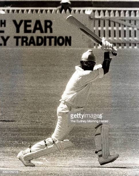 India's Bishen Singh Bedi cuts Ian Callen for 1 during the 5th Test cricket match between Australia and India at Adelaide Oval 3 February 1978 SMH...