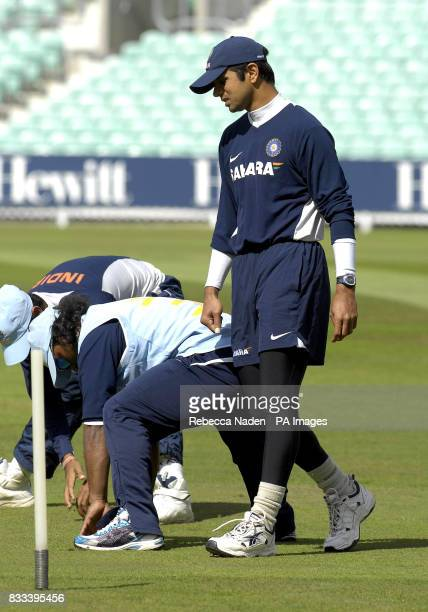 India's captain Rahul Dravid during a training session at The Brit Oval Kennington London