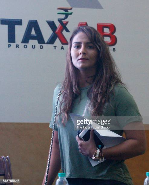India's first Commonwealth Games wrestling gold medallist Geeta Phogat launches the theme song of Bharat4PopulationLaw campaign for the twochild...