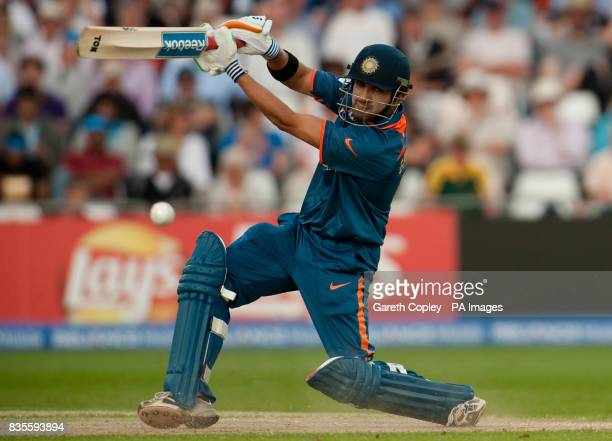 India's Gautam Gambhir bats during the ICC World Twenty20 Super Eights match at Trent Bridge Nottingham