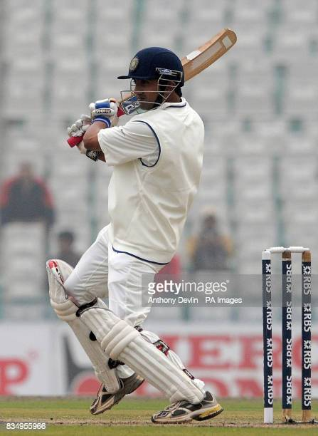 India's Gautam Gambhir bats during the second day of the second test at the Punjab Cricket Association Stadium Mohali India