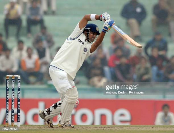 India's Gautam Gambhir bats during the start of the second day of the second test at the Punjab Cricket Association Stadium Mohali India