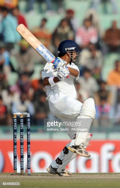 India's Gautam Gambhir batsduring the fourth day of the second test at the Punjab Cricket Association Stadium Mohali India