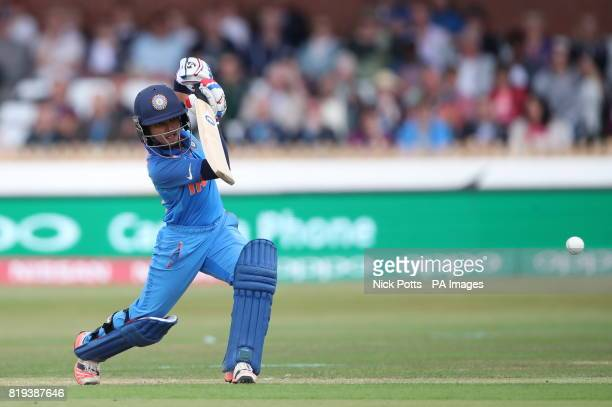 India's Harmanpreet Kaur during the ICC Women's World Cup Semi Final match at The County Ground Derby