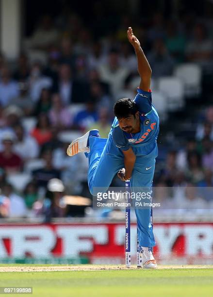 India's Jasprit Bumrah during the ICC Champions Trophy final at The Oval London