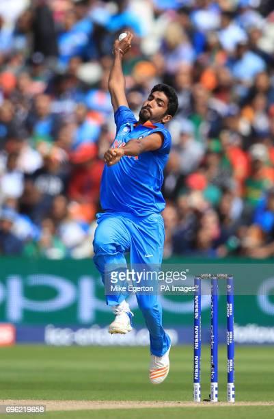 India's Jasprit Bumrah during the ICC Champions Trophy semifinal match at Edgbaston Birmingham