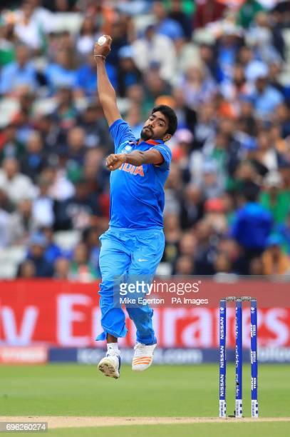 India's Jasprit Bumrah during the ICC Champions Trophy semifinal match at Edgbaston Birmingham PRESS ASSOCIATION Photo Picture date Thursday June 15...