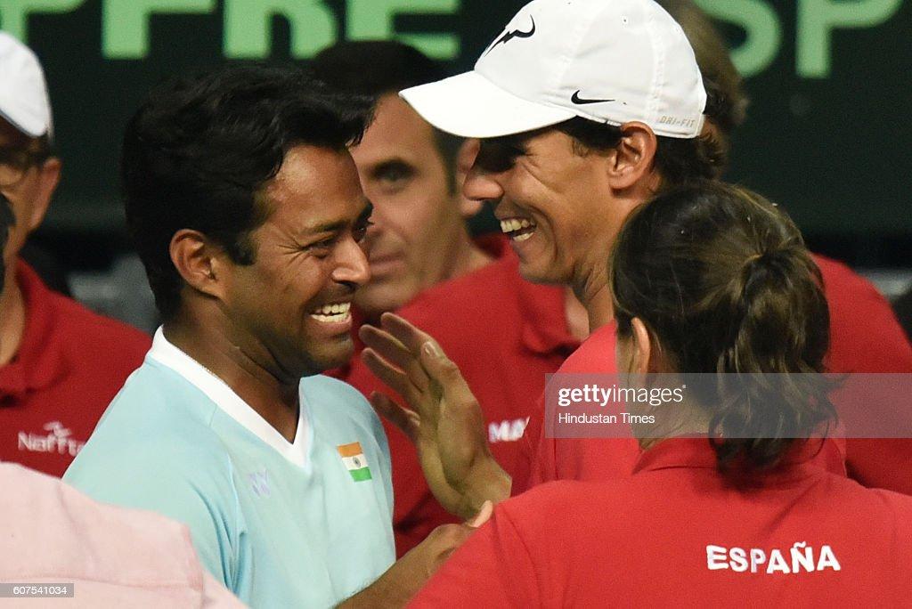 Davis Cup Match: India vs Spain : Photo d'actualité