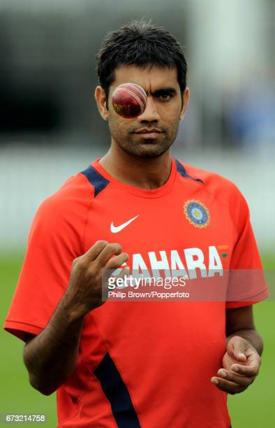 India's Munaf Patel looks on during a training session before Thursday's 1st Test match against England at Lord's cricket ground in London on July 20...