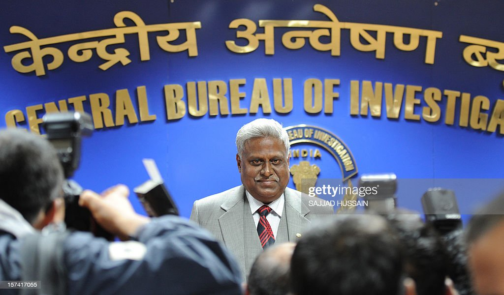 India's newly elected Central Bureau of Investigation (CBI) director Ranjit Sinha speaks with the media at CBI headquarters in New Delhi on December 3, 2012. The 59-year-old Sinha, who was the Indo-Tibetan Border Police Director, has served as the CBI's joint director in its anti-corruption unit. The CBI is an Indian governmental agency that jointly serves as a criminal investigation body, national security agency and intelligence agency.