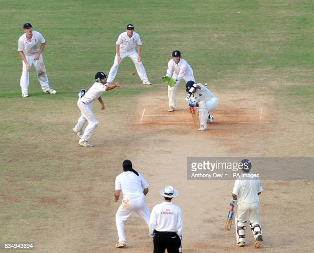 India's Rahul Dravid bats during the fourth day of the First Test Match at the M A Chidambaram Stadium in Chennai India