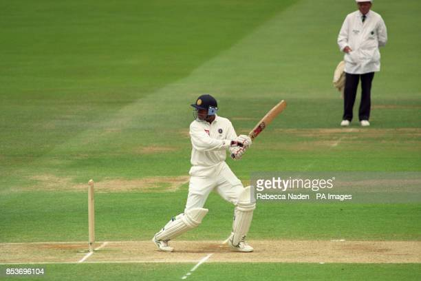 India's Rahul Dravid batting during the 4th day of the 2nd Test Match against England at Lord's