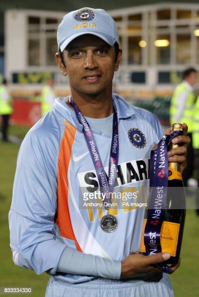 India's Rahul Dravid is named man of the match after India beat England in the NatWest Series match at the County Ground Bristol