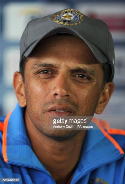 India's Rahul Dravid speaks to media after the nets session at Lord's Cricket Ground London