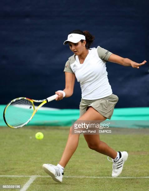India's Sania Mirza in action against Anastasia Pavlyuchenkova in their third round match