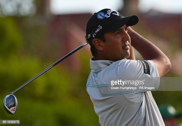 India's Shiv Kapur during day one of the 2013 Open Championship at Muirfield Golf Club East Lothian