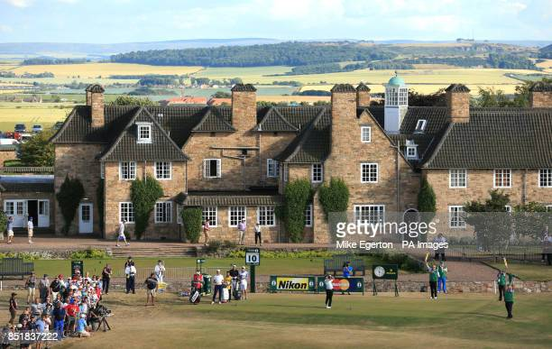 India's Shiv Kapur plays his tee shot on the 10th hole during day one of the 2013 Open Championship at Muirfield Golf Club East Lothian
