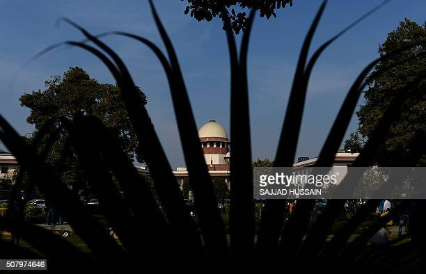 India's Supreme Court is seen in New Delhi on February 2 2016 India's top court agreed February 2 to review a law outlawing gay sex sparking hope...