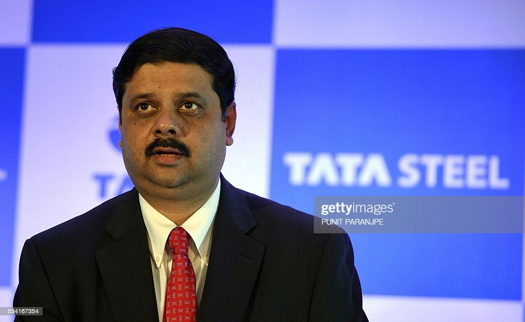 India's Tata Steel group's Managing Director and Chief Financial Officer Koushik Chatterjee arrives to address a news conference in Mumbai on May 25, 2016. India's Tata Steel said that it had yet to shortlist any bidders for the sale of its loss-making British assets but that it hoped to close a deal soon. / AFP / PUNIT