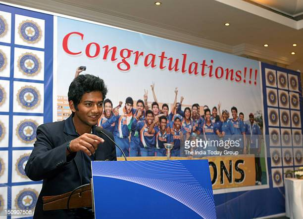 India's triumphant under19 World Cup captain Unmukt Chand talks to media on Tuesday August 28 2012