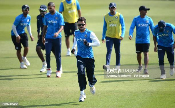 India's Virat Kohli during the nets session at the Ageas Bowl Southampton
