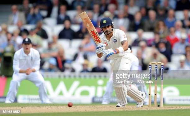India's Virat Kohli in batting action against England during the Fifth Test at The Kia Oval London