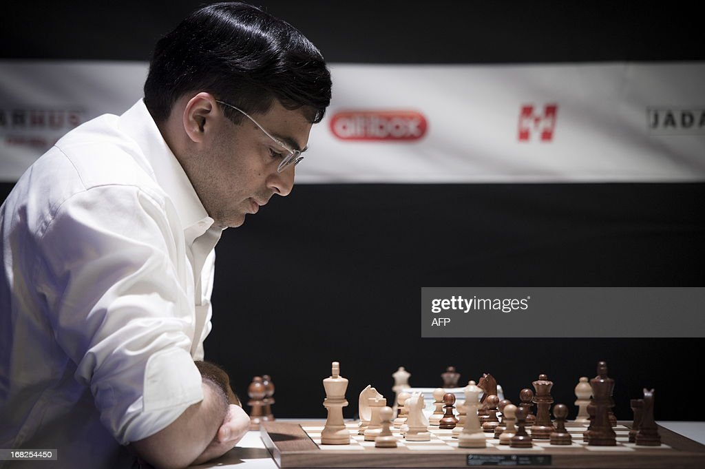 India`s Viswanathan Anand is pictured during the Norway Chess 2013 Blitz tournament in Sandnes near Stavanger, on May 7, 2013.