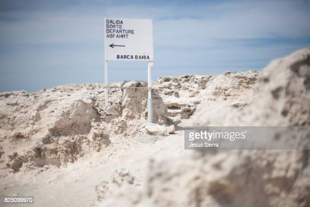Indication on the beach, Ses Illetes, Formentera