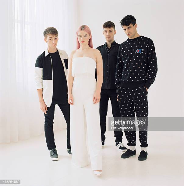 Indie band Clean Bandit are photographed for the Telegraph on March 2 2015 in London England