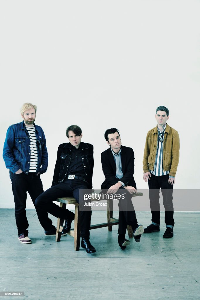 Indie band Franz Ferdinand are photographed for the Observer on June 17, 2013 in London, England.
