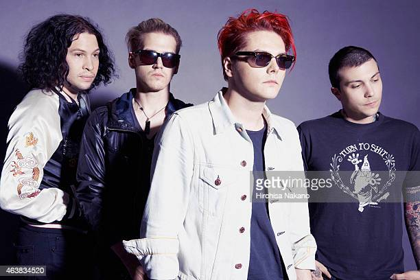 Indie band My Chemical Romance are photographed on February 4 2011 in Tokyo Japan