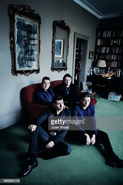 Indie band the Arctic Monkeys are photographed for the Telegraph on June 26 2013 in London England