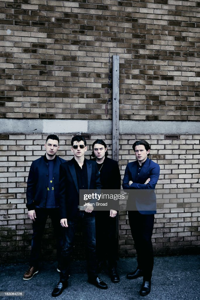 Indie band the <a gi-track='captionPersonalityLinkClicked' href=/galleries/search?phrase=Arctic+Monkeys&family=editorial&specificpeople=274715 ng-click='$event.stopPropagation()'>Arctic Monkeys</a> are photographed for the Telegraph on June 26, 2013 in London, England.