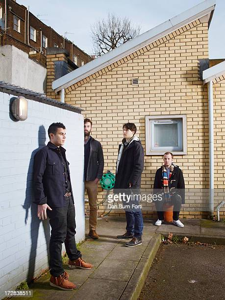Indie band Vampire Weekend is photographed for Esquire on February 18 2013 in London England