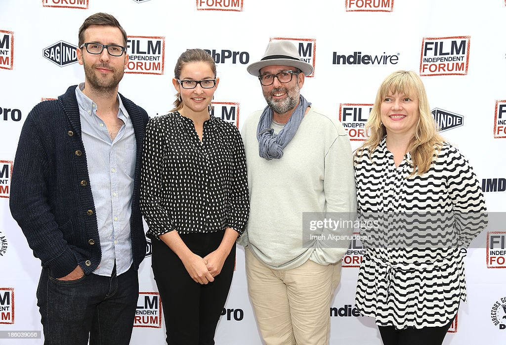 'Indie Game: The Movie' director/producer and director Lisanne Pajot, Bond Strategy CEO Marc Schiller and Fandor Marketing Director Liz Ogilvie attend the Film Independent Forum at the DGA Theater on October 27, 2013 in Los Angeles, California.