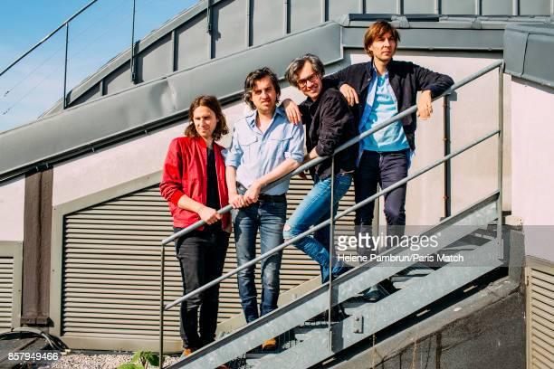 Indie pop band Phoenix are photographed for Paris Match on April 20 2017 in Paris France