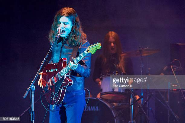 Indie Pop Singer Garrett Borns performs at the 6th Annual Music Supervisors Awards at The Theatre at Ace Hotel Downtown LA on January 21 2016 in Los...
