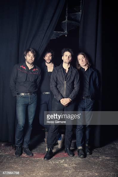 Indie rock band The Vaccines are photographed on March 29 2015 in Glasgow Scotland